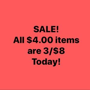 Tops - All $4.00 items are 3/$8 Today. Bundle and Save!